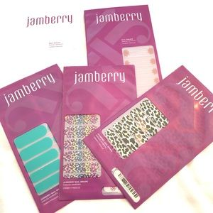 Jamberry Nail Wraps Lot Leopard Aquamarine Marsala